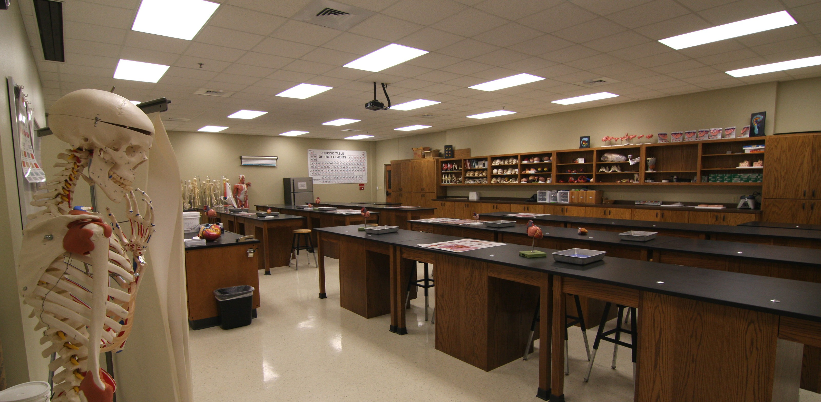 empty Science Education classroom and lab