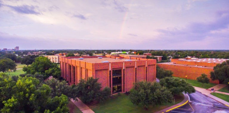 Photo of Richardson Library on the HSU campus.