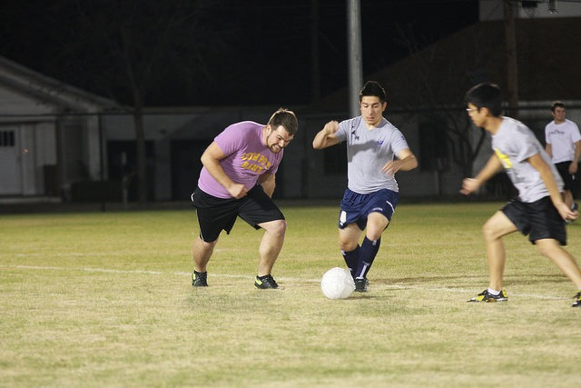 HSU students playing soccer