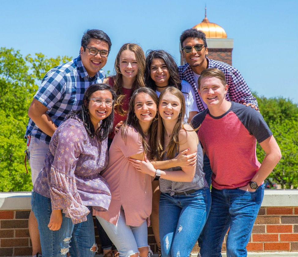group photo of HSU students at International Week on campus