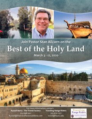 Holy Land Tour button linking to travel details in pdf form
