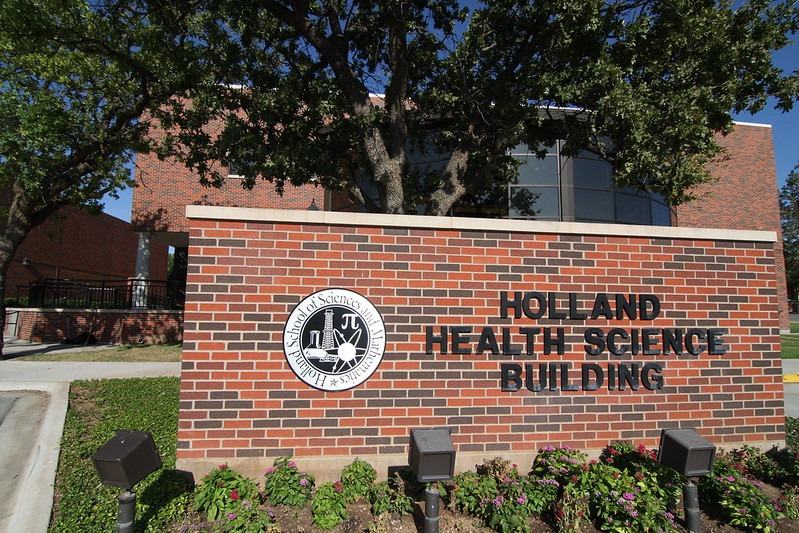 The Holland Health Science Building houses many of HSU's science and pre-med courses.